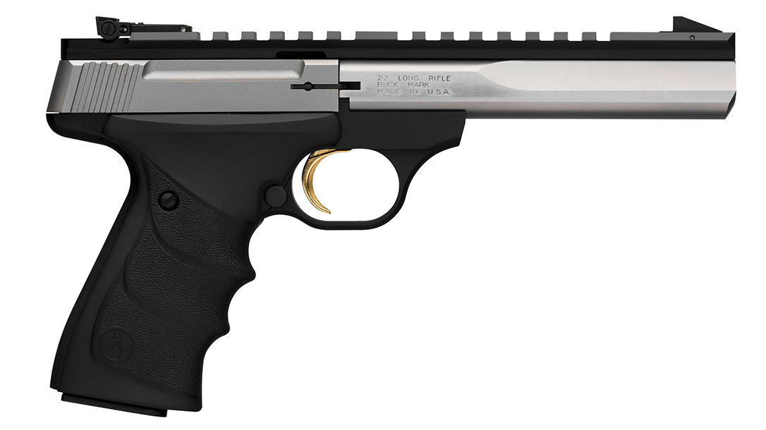 .22 LR Pistols, Browning Buck Mark Contour Stainless URX