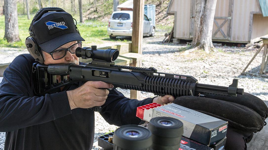 Hi-Point 1095TS, bench shooting