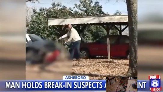 North Carolina Son Pulls Gun on Burglars
