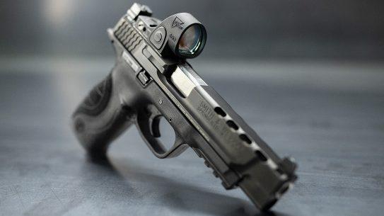 Trijicon SRO red dot optic, handgun