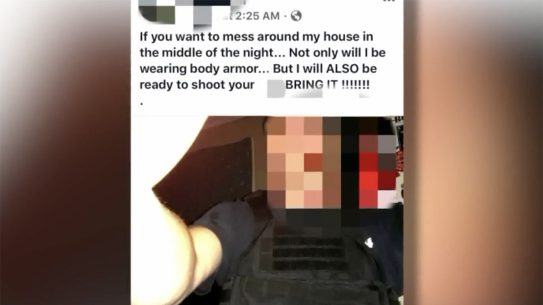 Memphis Man Guards Home With AR-15 and Body Armor