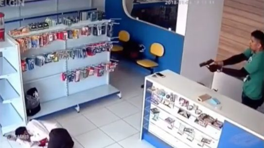 Armed Store Employee Shoots Robber, shooting