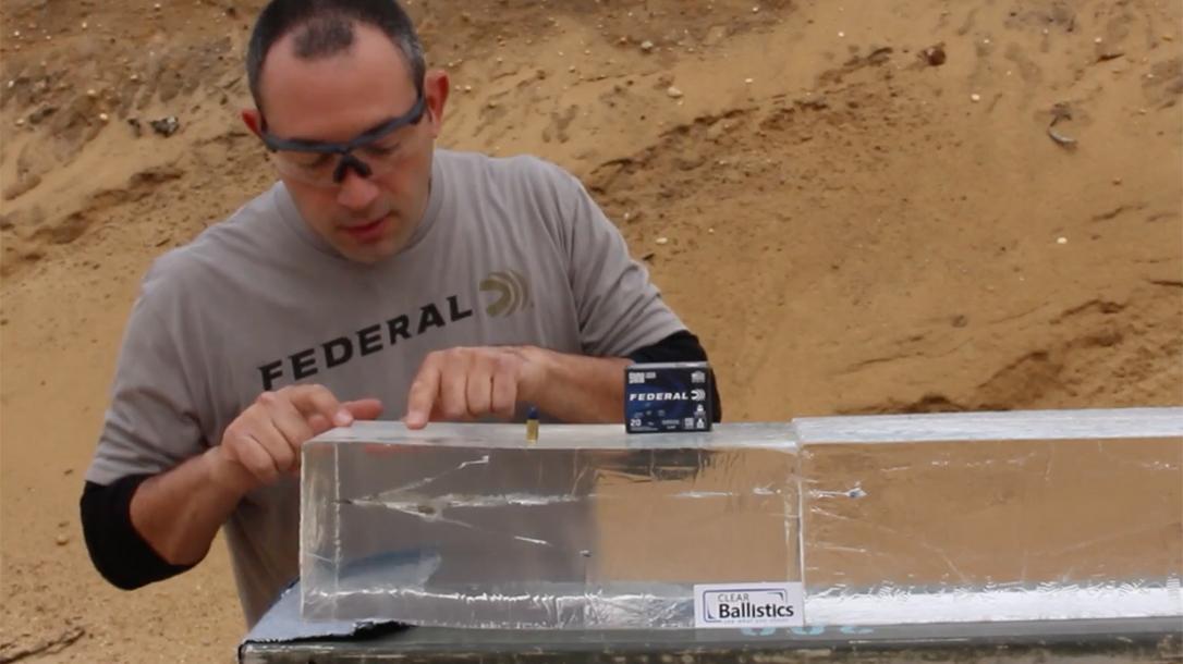 Federal Syntech Defense ammo, Federal Syntech Defense gel test