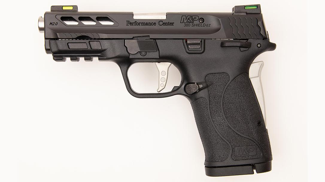 Performance Center M&P Shield 380 EZ Pistol review, left