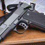 Nighthawk Custom Counselor 1911 pistol, deskj