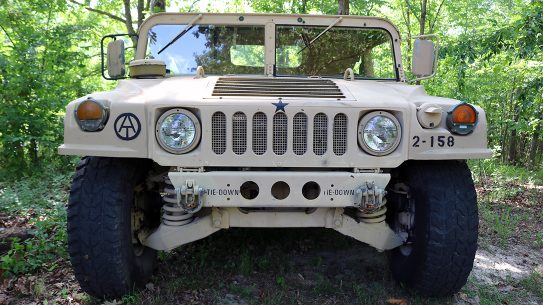 Military Humvee Front.