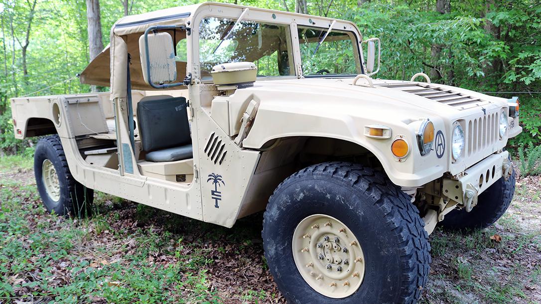 Military Humvee Right Quarter.