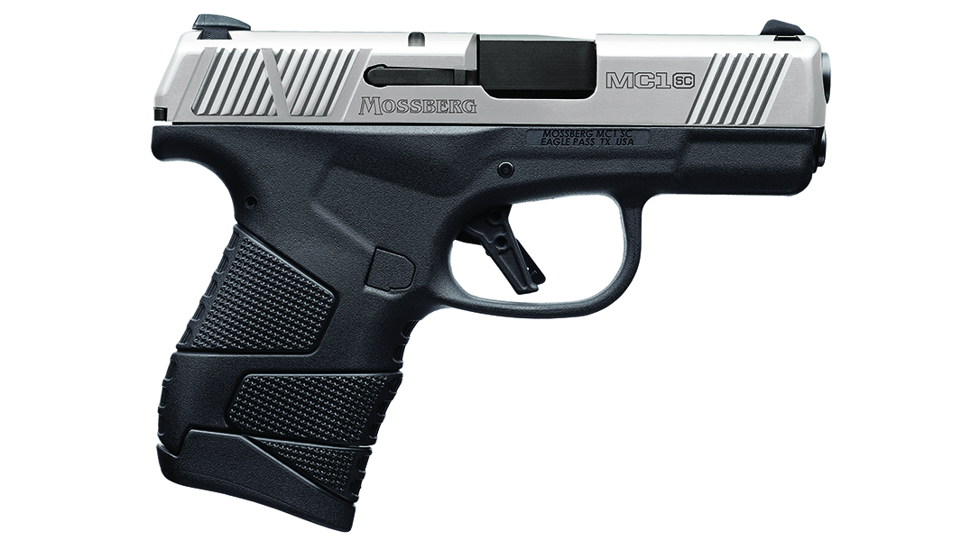 Mossberg MC1sc Stainless Two-Tone come with or without cross-bolt safety