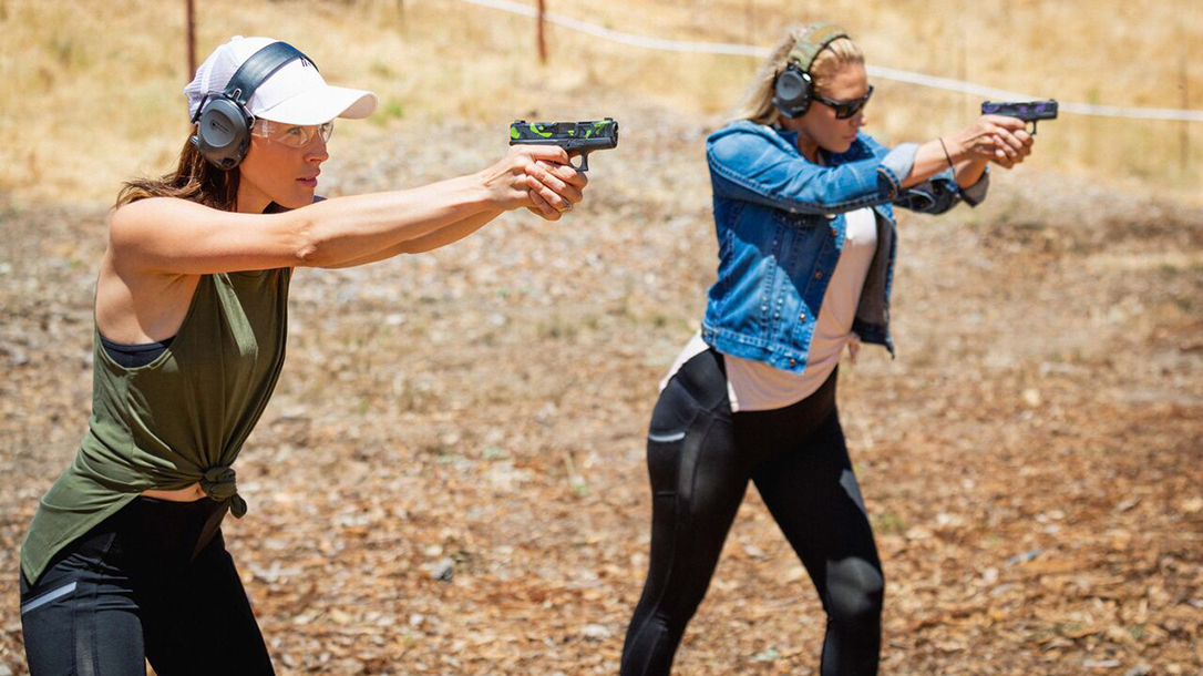 Amy Robbins created Alexo Athletica, which makes leggings with built-in holsters.