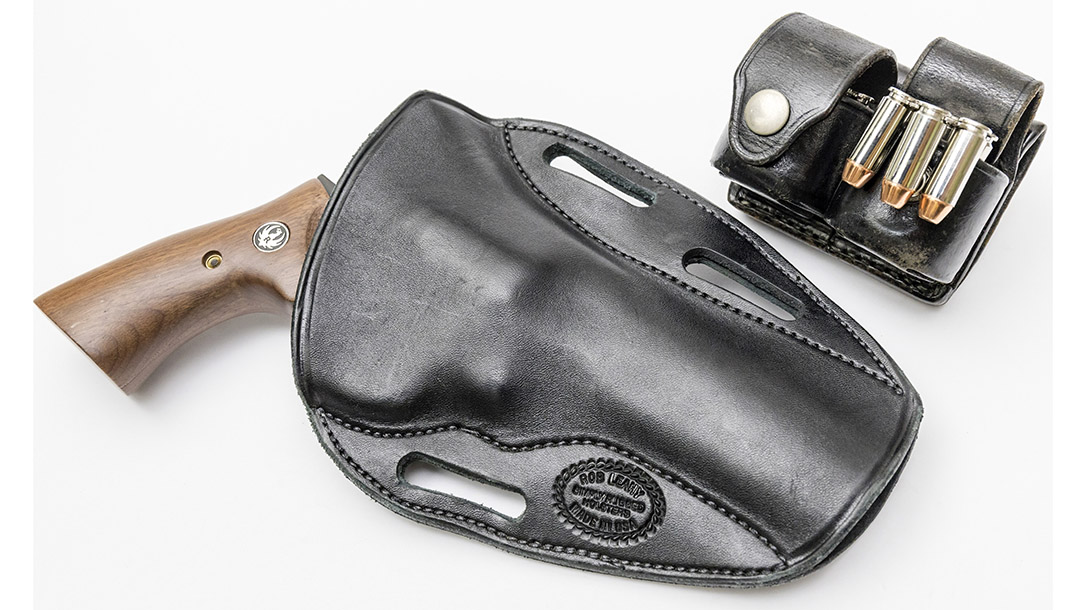 Ruger's GP100 riding in a Simply Rugged Holster