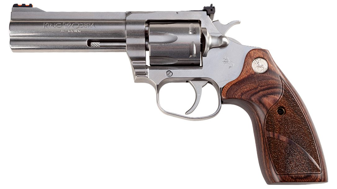 Colt King Cobra Target features forged stainless steel and a six-shot capacity.
