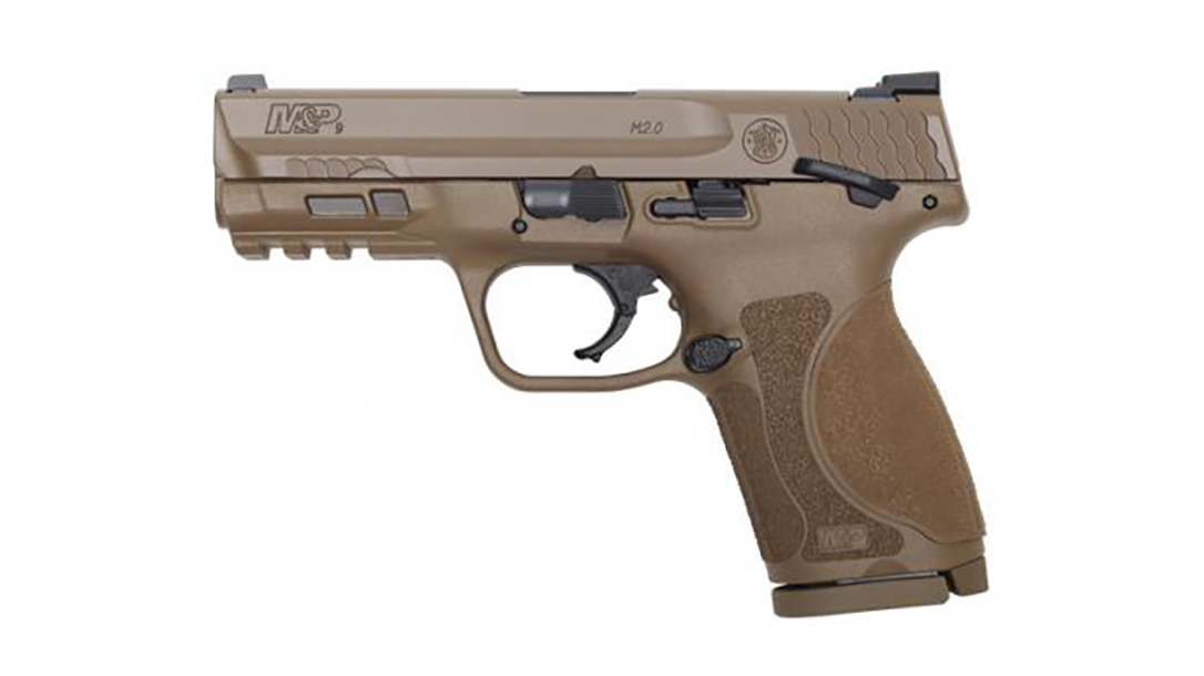 Smith & Wesson adds M&P 2.0 Compact FDE finish to line.