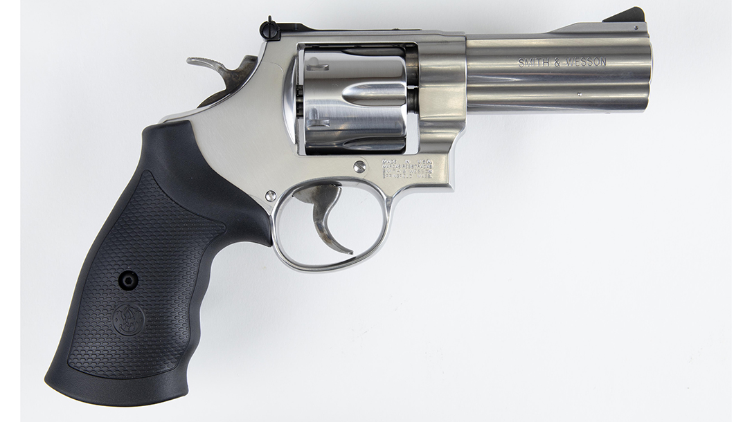 A great choice for self-defense, the revolver comes in 10mm Auto.