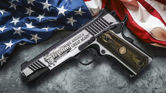 Auto-Ordnance Trump 1911 features the president's face on the left side of the slide