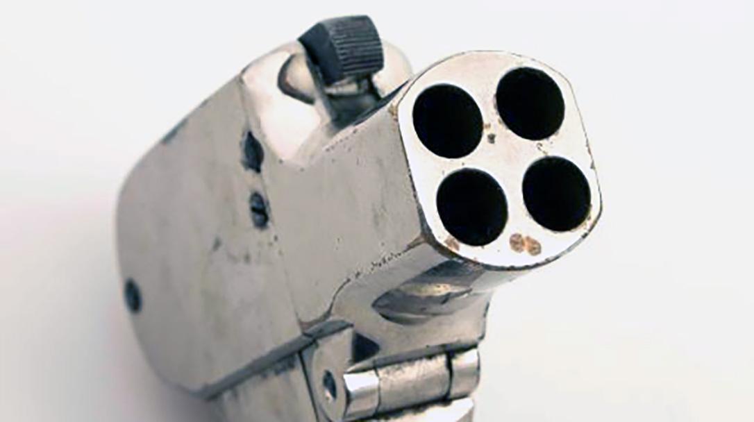 Chambered in .22 or .32 rimfire, Unique Shattuck sported 4 barrels.