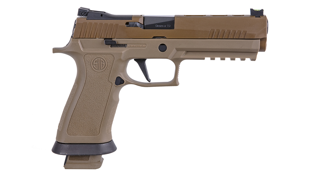 The SIG Sauer P320 XFive tested positive on its grip.