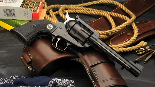 Ruger revolver chambered in 44 Special.