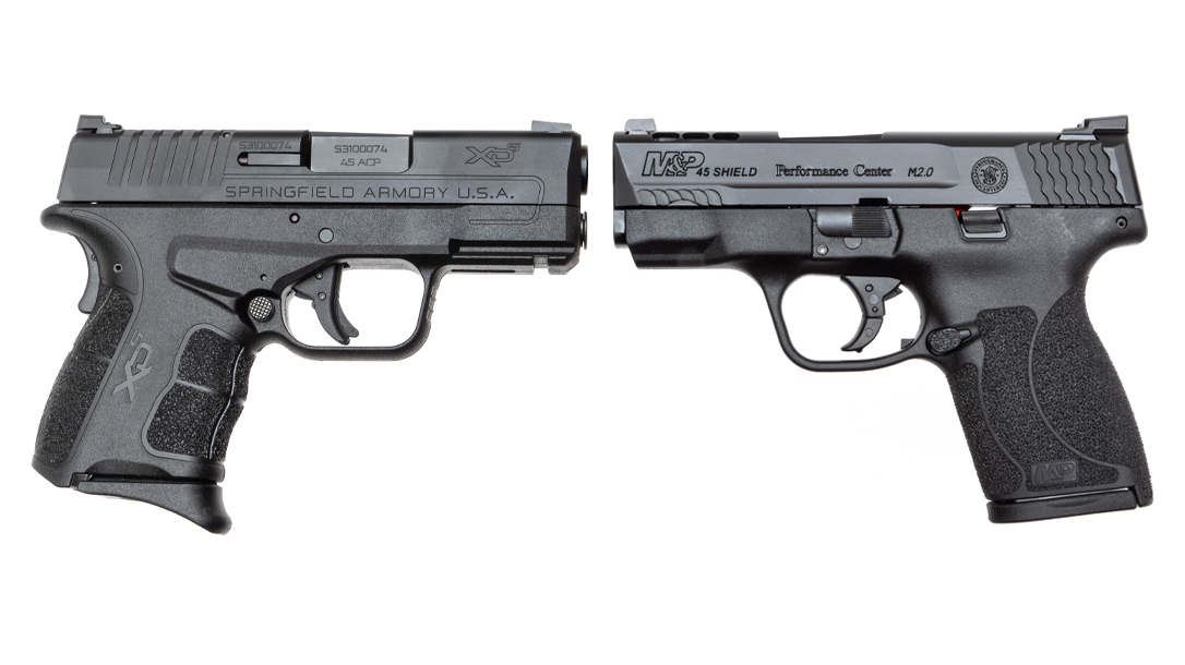 Both Springfield Armory and Smith & Wesson came out with compact 45s for carry.