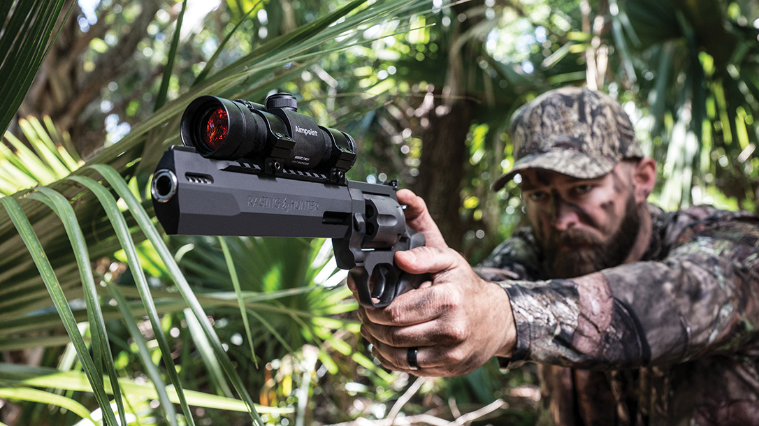 Equipped with a Picatinny rail, the Taurus Raging Hunter accommodates optics.