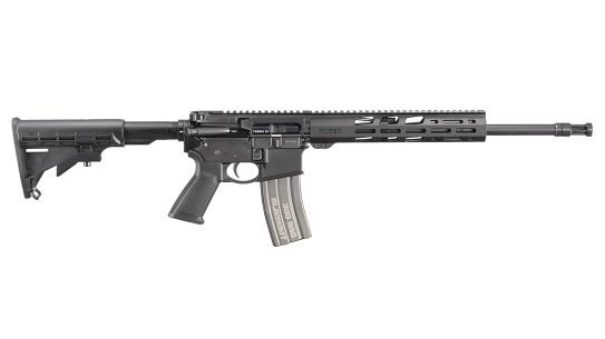 The Ruger AR-556 300 BLK utilizes a pistol-length gas system.