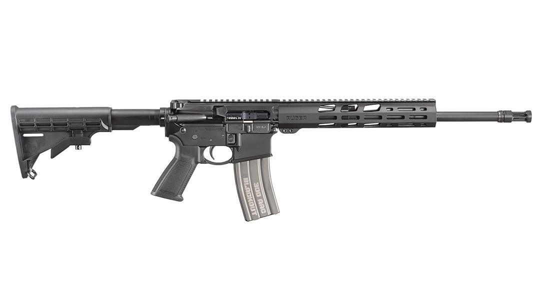 The Ruger AR-556 300 BLK utilizes a pistol-length gas system.