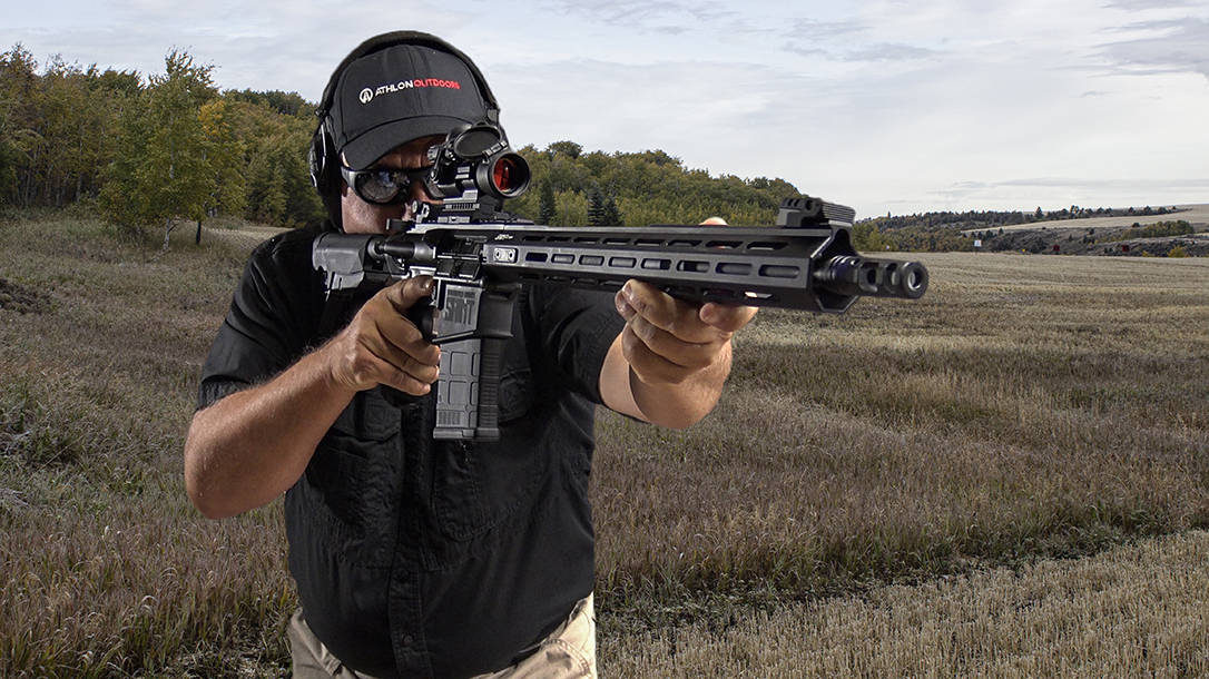 The muzzle brake on the Springfield AR-10 made it easy to shoot.