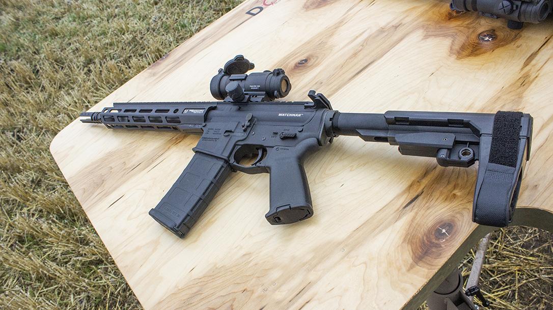 doa shooting bench, firearm, athlon outdoors rendezvous 2019, left, brace