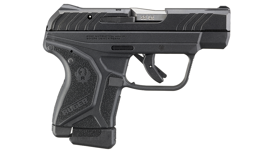 Improved grip serrations help aid in manipulating the slide.