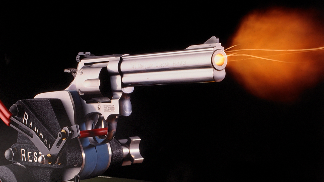 With slightly less recoil than the .44 Magnum, the .41 becomes a solid field gun.