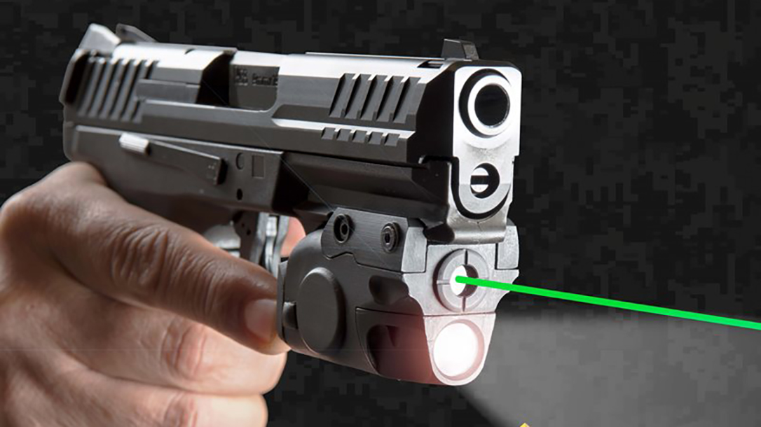 The XTEch Tactical Smart Laser uses IR sensors for light and laser activation.