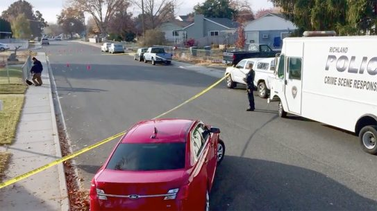 A Washington man out-shot a career felon during an attempted armed robbery.