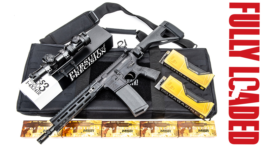 Daniel Defense DDM4V7 Pistol, fully loaded, side