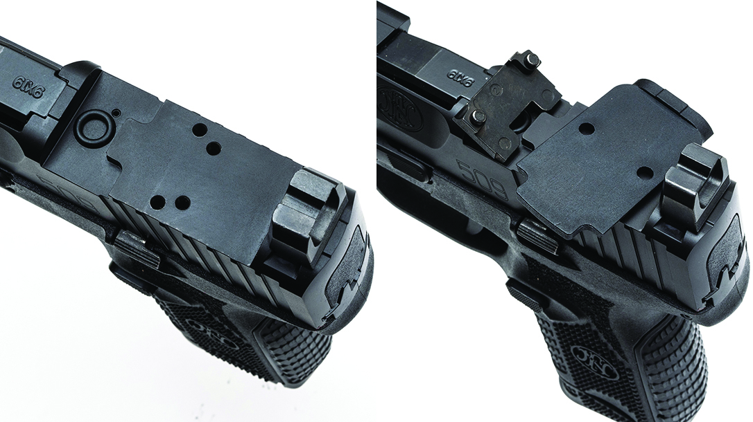 Suppressor height sights ensure the gun will co-witness with any red dot.