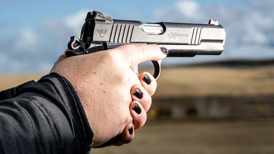The new eXperior handgun line impressed during recent range testing.