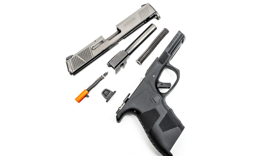 Disassembly is quick and easy and doesn't require a press of the trigger.