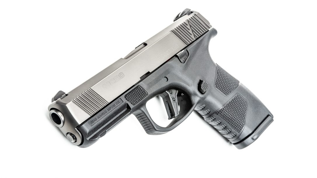 With a trigger breaking at 5.5 pounds, the bigger MC2c is Mossberg second pistol offering.