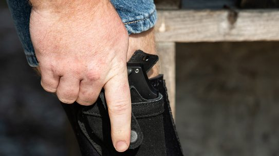 Pulling from an ankle holster requires a different draw method and practice.