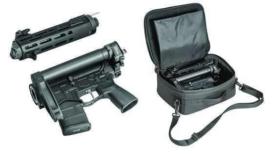 With a folding stock and a ratcheting barrel, the Edge Evac is unqiue.