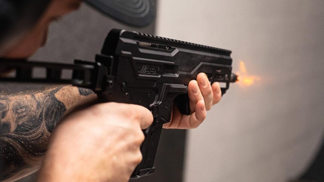 The Diamondback 5.7 chambers the suddenly popular 5.7x28mm cartridge.