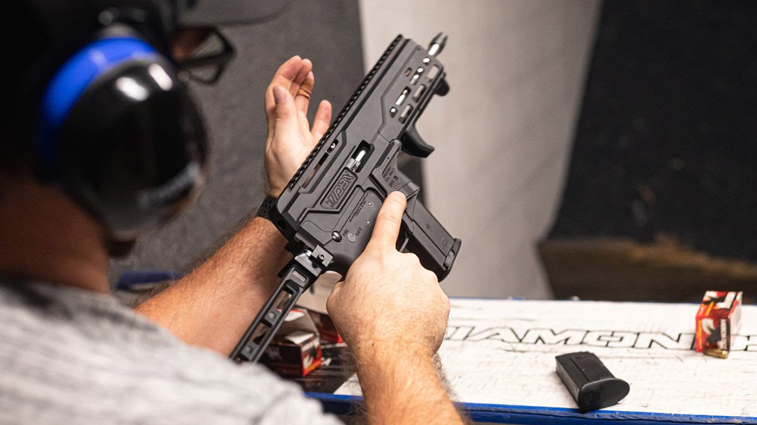 At just 16 inches long overall, Diamondback's new pistol should be handy for defense.