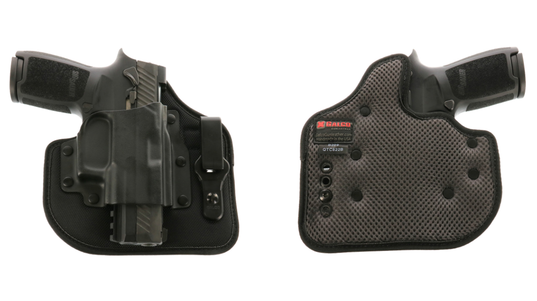 With a rigid, open-top Kydex design and ballistic nylon backing, the Galco QuickTuk Cloud IWB holster provides a solid EDC option for SIG owners.