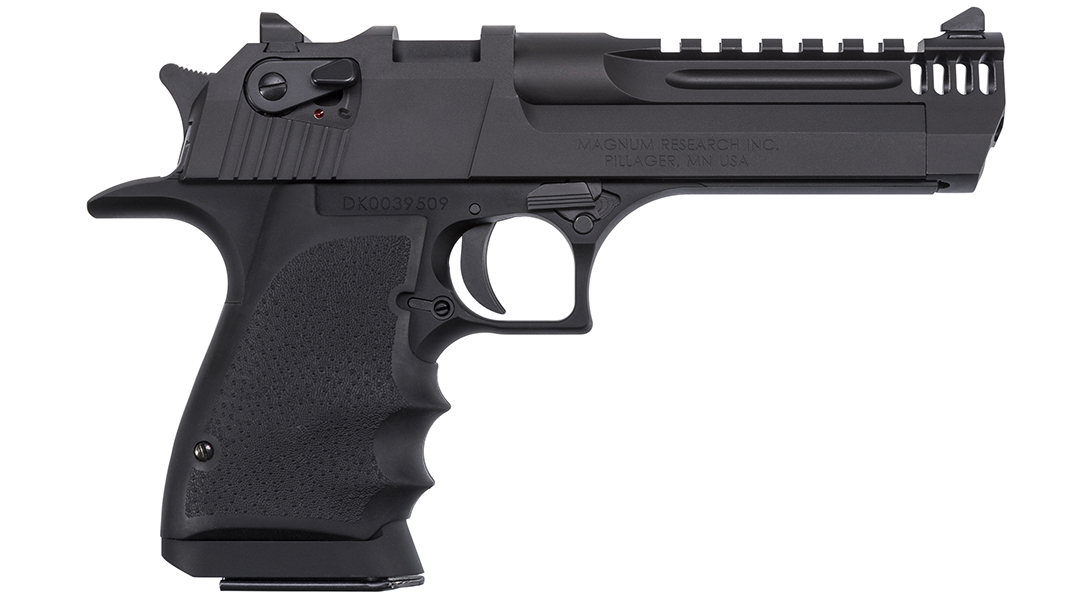The classic Desert Eagle in .50 AE got banned in NY via a weight restriction, but the L5 gets around it.
