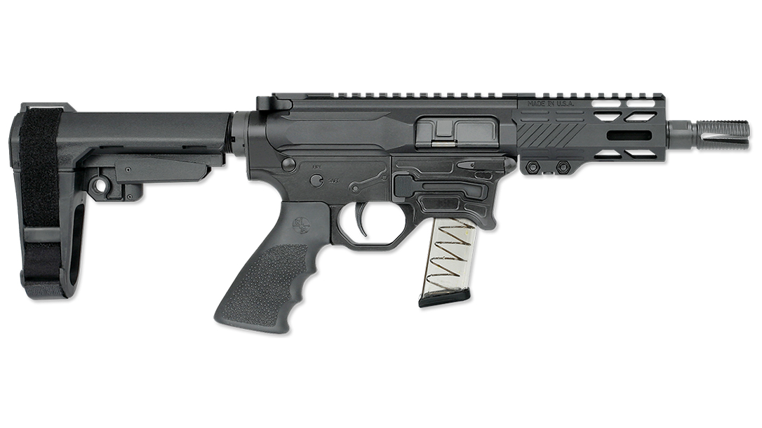 The new BT-9, chambered in 9mm, runs on Glock magazines.