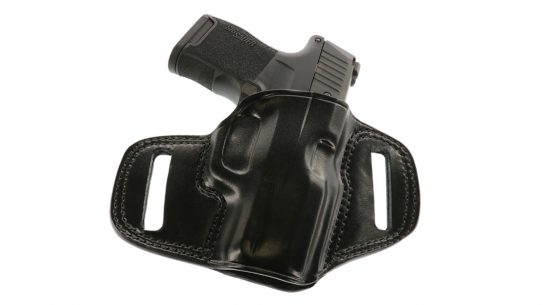 Constructed from premium steerhide, the pancake-style Combat Master SIG P365 fit offers highly concealable holster option to popular carry gun.