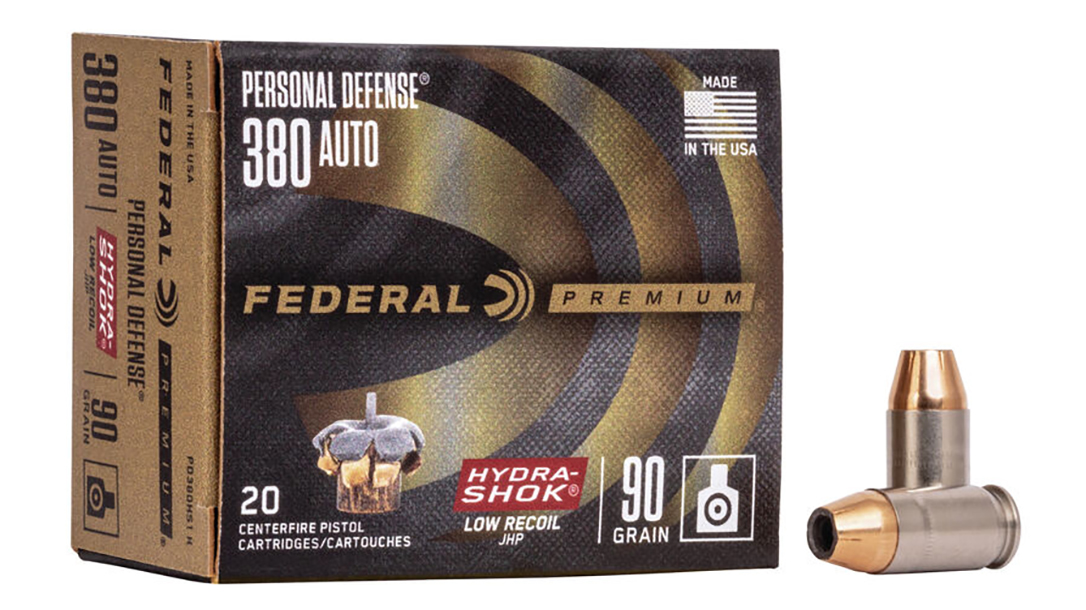With a 99-grain bullet, and performance testing meeting FBI standards, the new Federal Hydra-Shok 380 load brings performance to carry guns.