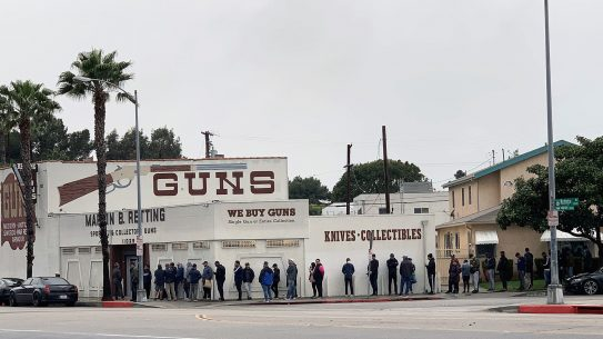 coronavirus panic buying, Gun store lines are growing across the country, stimulus checks guns, stimulus money guns