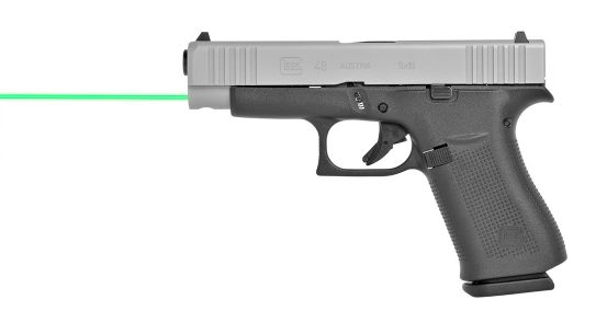 Offering up a daylight-visible laser aiming point, the LaserMax Green Guide Rod upgrades the popular Glock 43, 43X and 48 subcompact pistols.