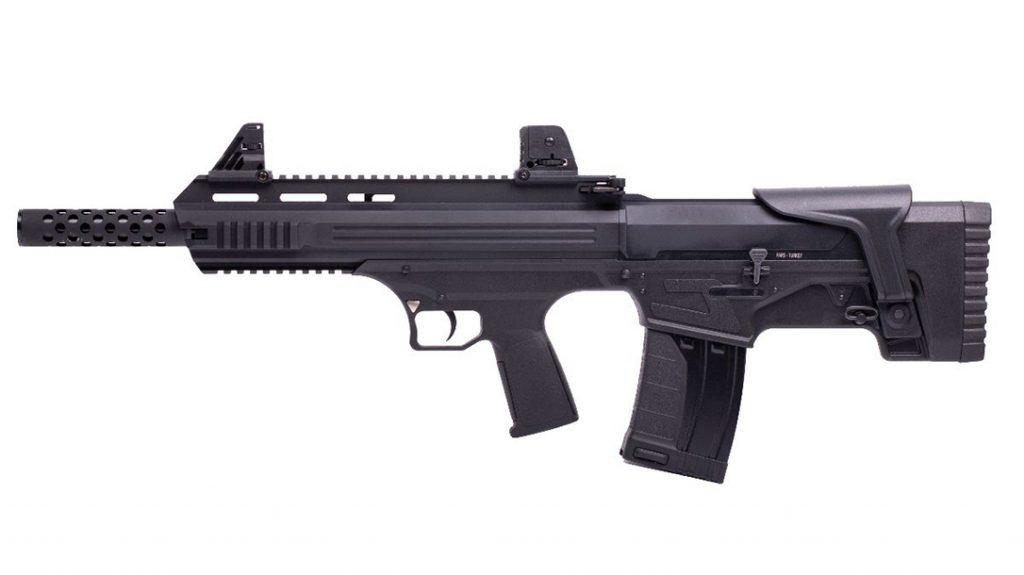 The American Tactical Bull-Dog shotgun utilizes a box magazine system.