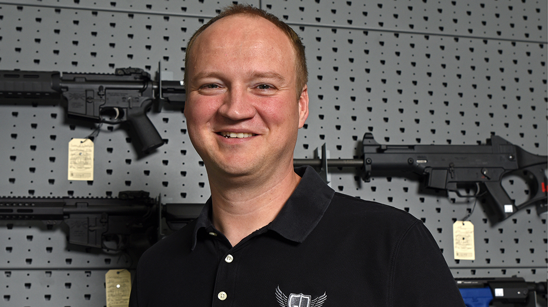 The great salesman is a true asset to any gun shop.