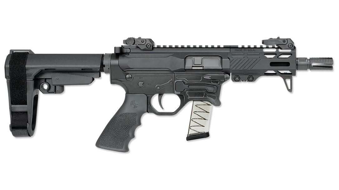 The Rock River RUK-9BT runs on Glock magazines.
